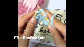 Repeat youtube video บีดีนิต การถักนิตติ้ง ผ้าพันคอลายพื้นฐาน (Knit/ลายลง)