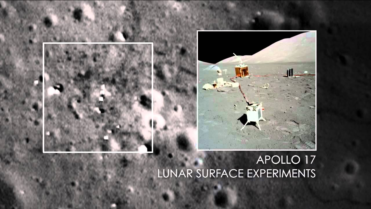 nasa sharper views of apollo 12 14 and 17 sites youtube