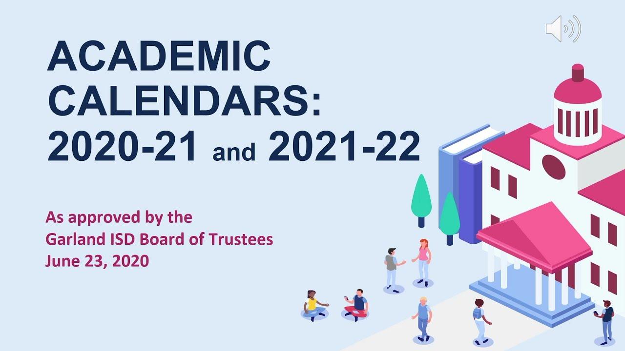 Garland Isd Calendar 2021-22 Intersession   Garland Independent School District