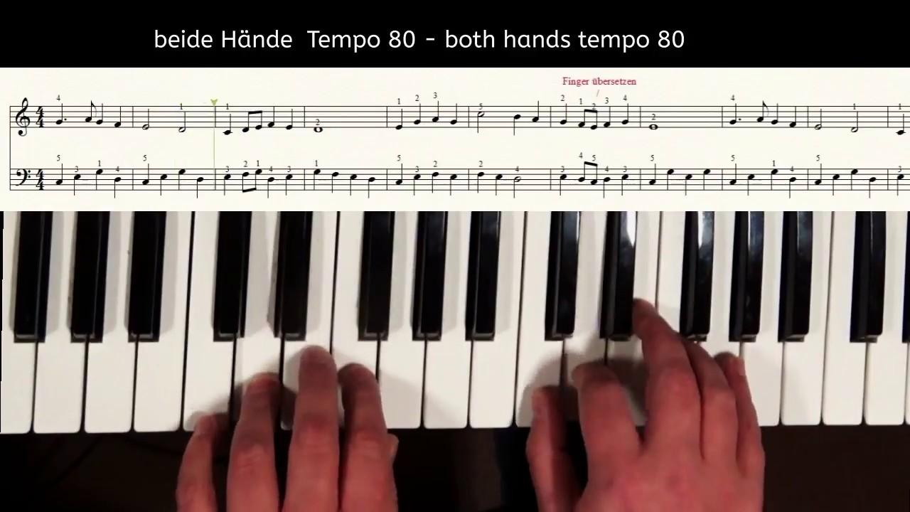 Keyboard Weihnachtslieder Anfänger.Klavier Lernen Weihnachtslied Alle Jahre Wieder Leicht Für Anfänger Piano Tutorial For Beginner