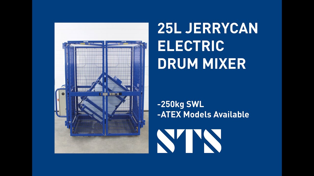 25 Litre Jerrycan End Over End Drum Mixer