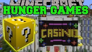 Minecraft: CASINO ISLAND HUNGER GAMES - LUCKY BLOCK MOD - Modded Mini-Game