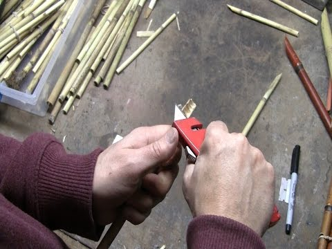 How to make your own reed pens for drawing