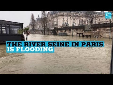 France: The river Seine in Paris is flooding