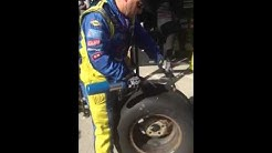 #47 Team checking tire temp at the Quicken Loans 500