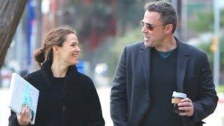 Ben Affleck And Jennifer Garner Look ADORABLE Together In Brentwood - EXCLUSIVE