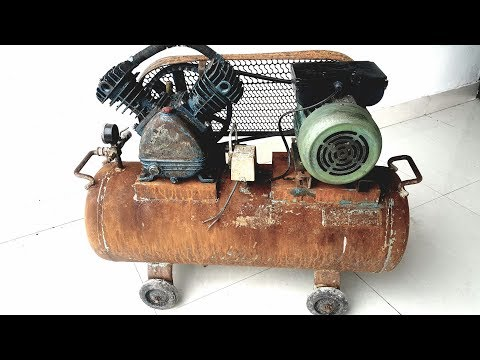 Restoration rusty old air compressor | Restore vintage air compressor