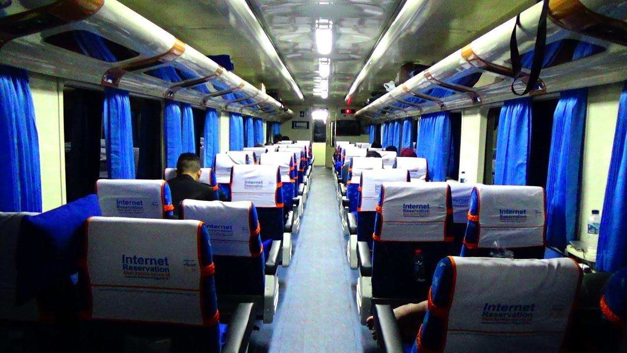 kereta api ranggajati cirebon jember interior kereta kelas rh youtube com