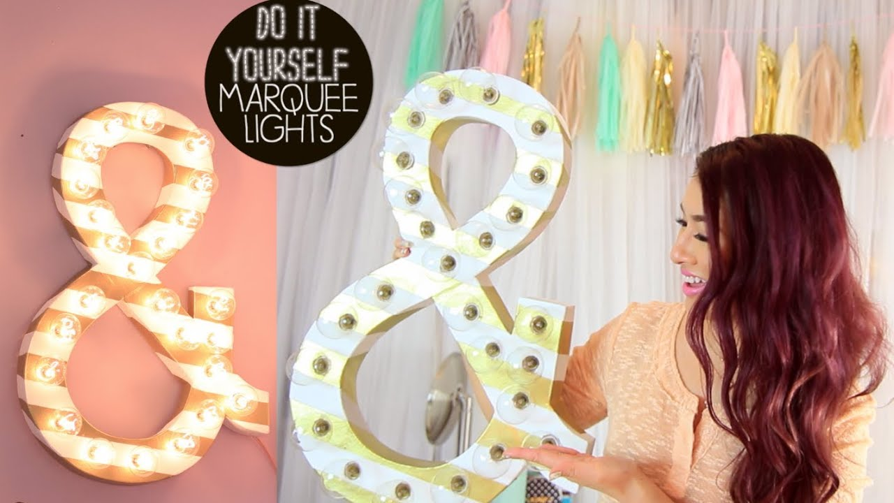 DIY Marquee Lights YouTube