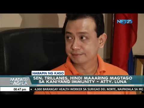 Mga naghain ng reklamo vs Sen. Trillanes ikinasiya ang pasya ng Pasay Prosecutor's Office
