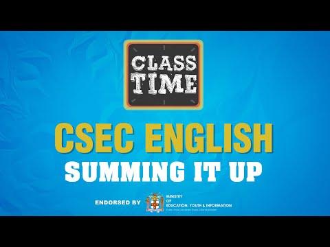 CSEC English | Summing It Up  - June 1 2021