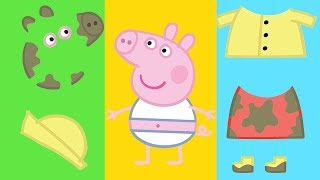 Peppa Pig - Dress up Peppa Pig - Learn Colouring - Learning with Peppa Pig