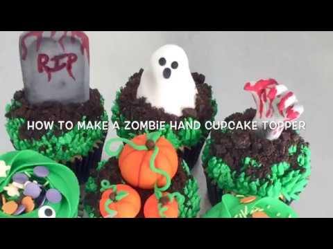 How To Make A Zombie Hand Cupcake Topper
