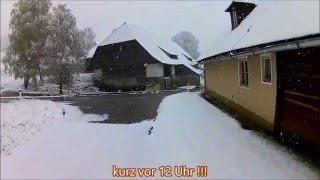 (HD) Schneechaos Kärnten 27.04.2016 ....über 30cm Schnee innerhalb von nicht mal 8h !!!