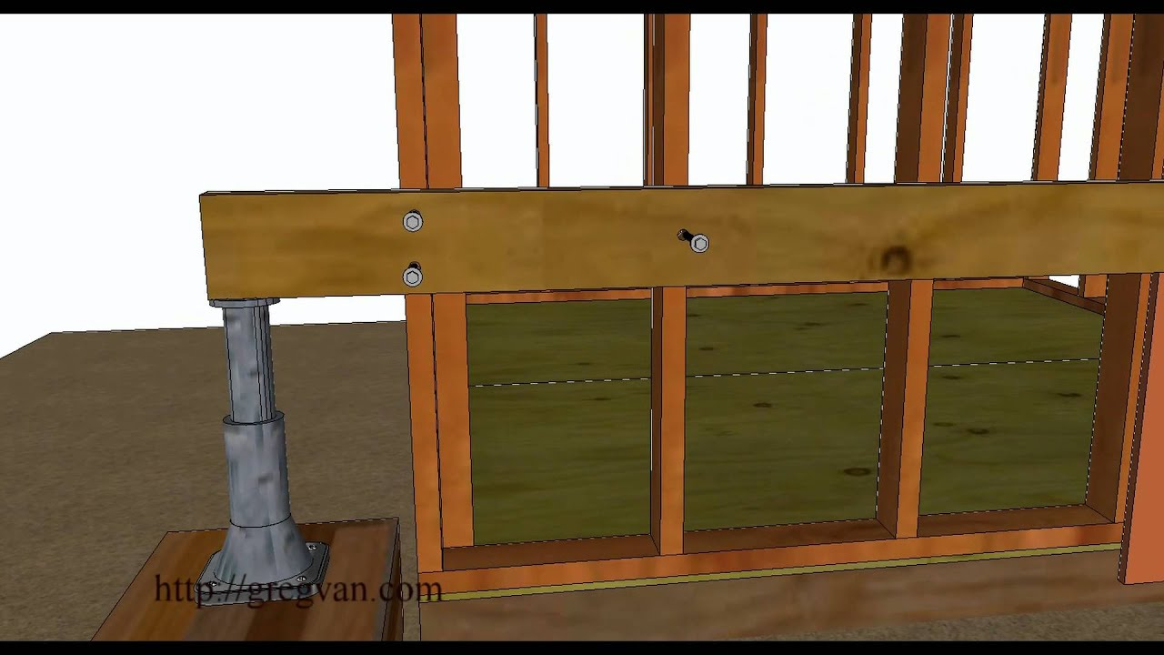 How To Raise Small Leaning Sheds  Home Repairs - YouTube