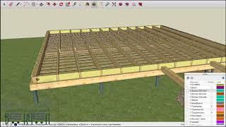 Перекрытие в доме из Векчел. Как сделать перекрытие в каркасном доме. Часть 1.  Векчел в деталях