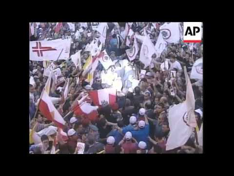 Tens of thousands of Christians welcome home the Maronite Catholic Patriarch
