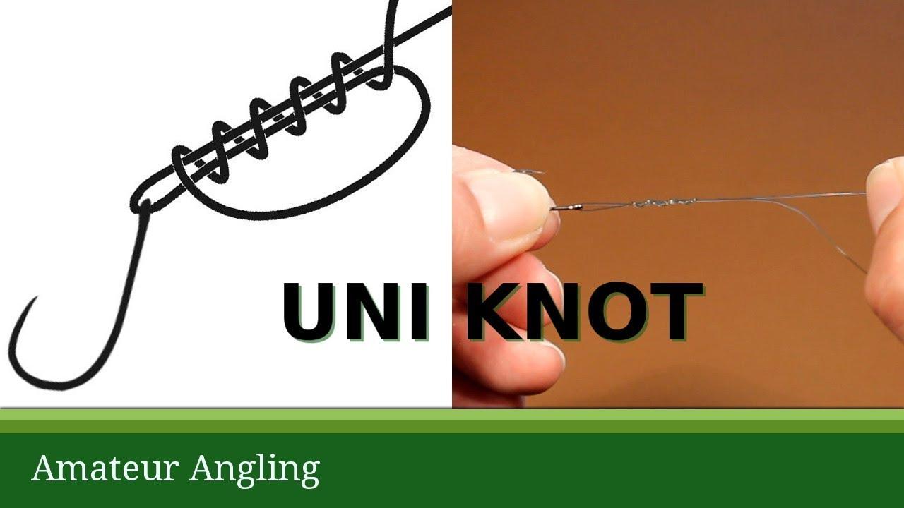 Uni Fishing Knot To Tie Hooks Youtube