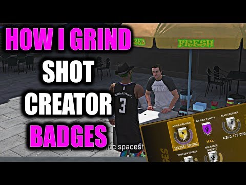 BEST WAY TO GRIND SHOT CREATOR BADGES!? GET FREE THROW RATING UP QUICK!- NBA 2K18