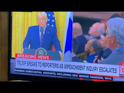 President Trump Calls Impeachment Investigation A Hoax During Press Conference On CNN