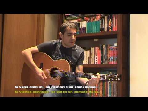 Luis Llach - Que tinguem sort - Subtitulado al castellano (acoustic cover)
