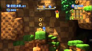 Sonic Generations - Green Hill Acte 1 - Défi 1 : Course Alter Ego !