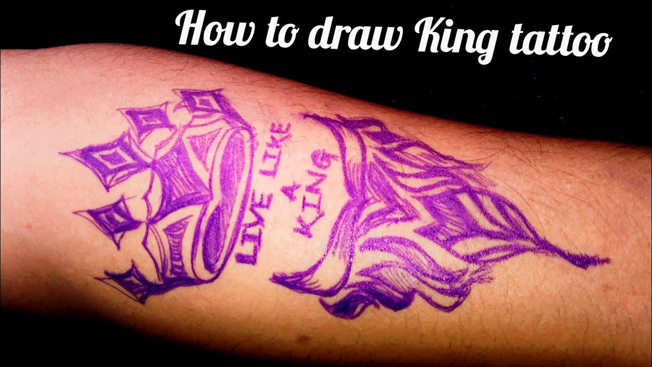 How To Draw Crown Tattoo How To Draw King Tattoo Youtube Depending upon the state of your current love life. how to draw crown tattoo how to draw king tattoo
