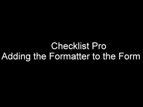 Checklist Pro - Installation