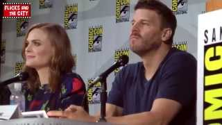 Bones Comic Con 2014 Panel - Emily Deschanel & David Boreanaz