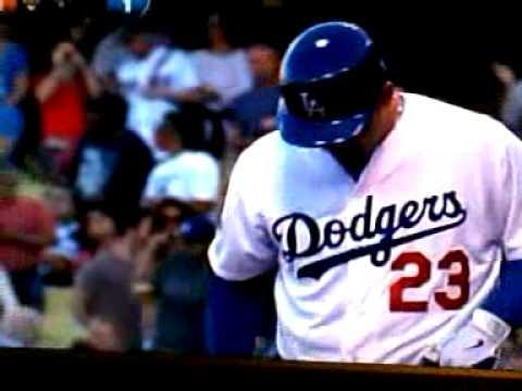 adrian Gonzalez dodgers first at bat