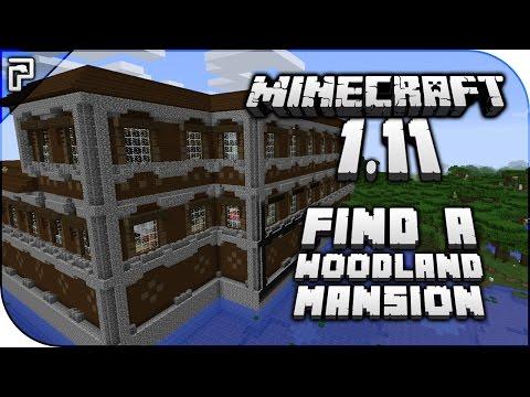 Minecraft 1.11   How To... Find A Woodland Mansion Dungeon! (Quick Tutorial)