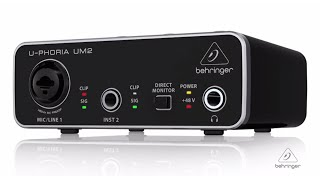 U-PHORIA UM2 Audiophile 2x2 USB Audio Interface with XENYX Mic Preamplifier