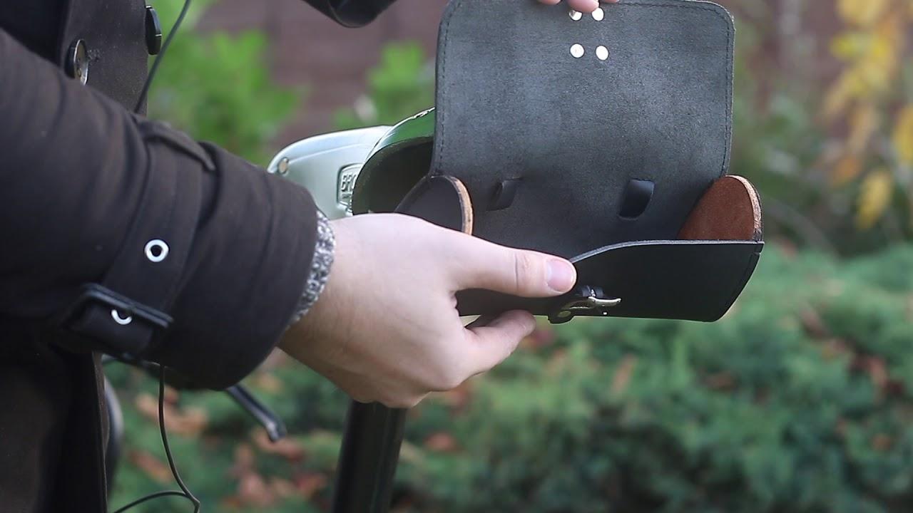Classic Leather Saddle Handlebar Bike Bicycle Bag In Black Youtube Copyright 2006 Bicycledesignercom