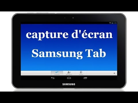 Comment faire une capture d 39 cran sur une tablette samsung for Prendre photo ecran