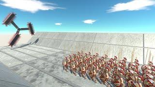 Floating Reaper and 100 Spartan Warriors Animal Revolt Battle Simulator