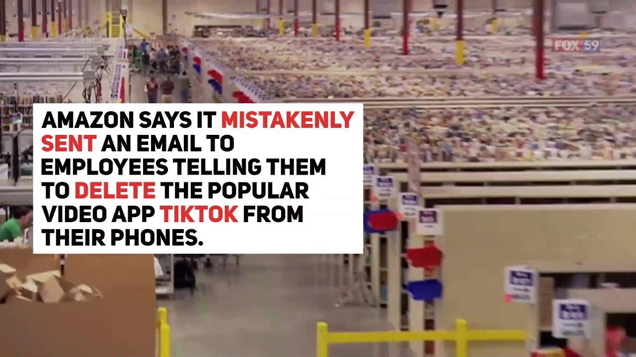 Amazon says email to employees banning TikTok was a mistake - FOX59 News