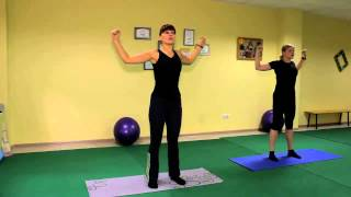 Оксисайз упражнение для рук и груди, разминка, видео урок онлайн.(Оксисайз упражнение для рук и груди, разминка, видео урок онлайн. Фитнес студия онлайн «КатриАль», видео..., 2014-11-05T10:43:57.000Z)