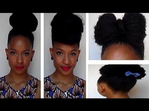 4 Chignons Originaux Cheveux Crepus Frises Boucles Youtube