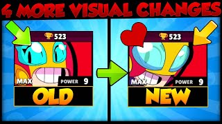 4 More Visual Changes in Brawl-o-ween Update | Brawl Stars Old vs New