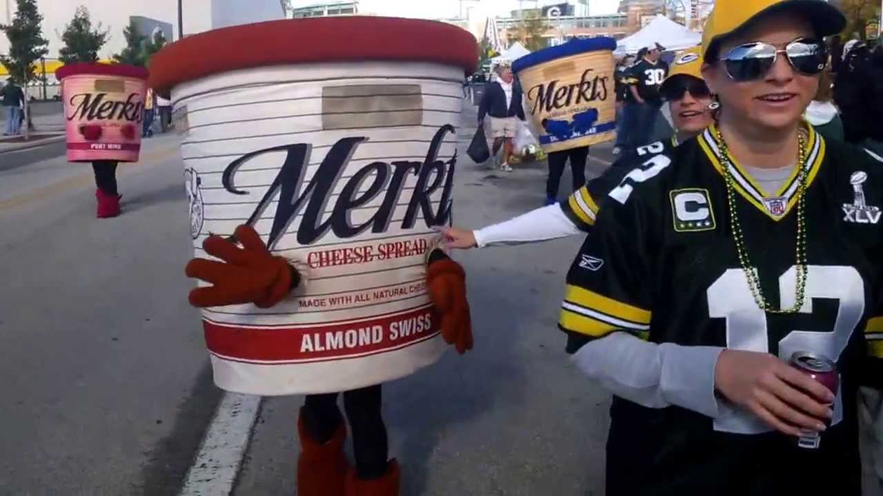 merkts cheese spread almond swiss at lambeau field right before packers lions game