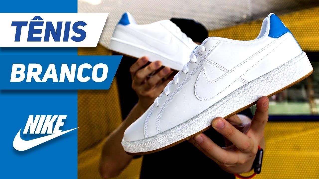 volumen grande belleza Nueva York Tênis Nike Branco Bonito - Nike Court Royale - YouTube