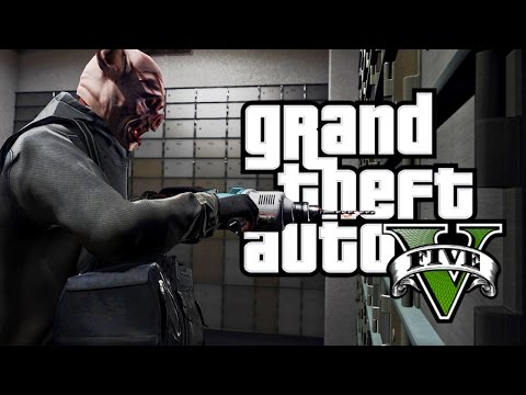 GTA 5 - ROBBING BANKS & CRACKING SAFES! (GTA 5 NEW HEIST MISSIONS MOD)