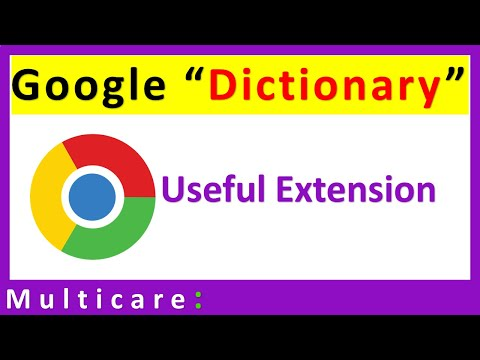 How to install google dictionary chrome extension