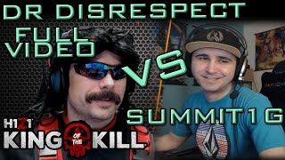 dr disrespect vs summit1g round 1   gameplay chat   h1z1 kotk   full video