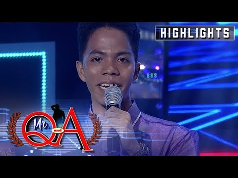 Fafa Juls Recites A Poem For His Best Friend | It's Showtime Mr. Q And A