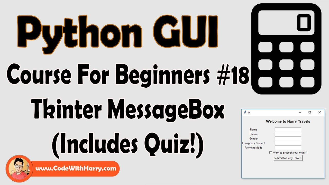 Message Box In Tkinter Python   Python Tkinter GUI Tutorial In Hindi