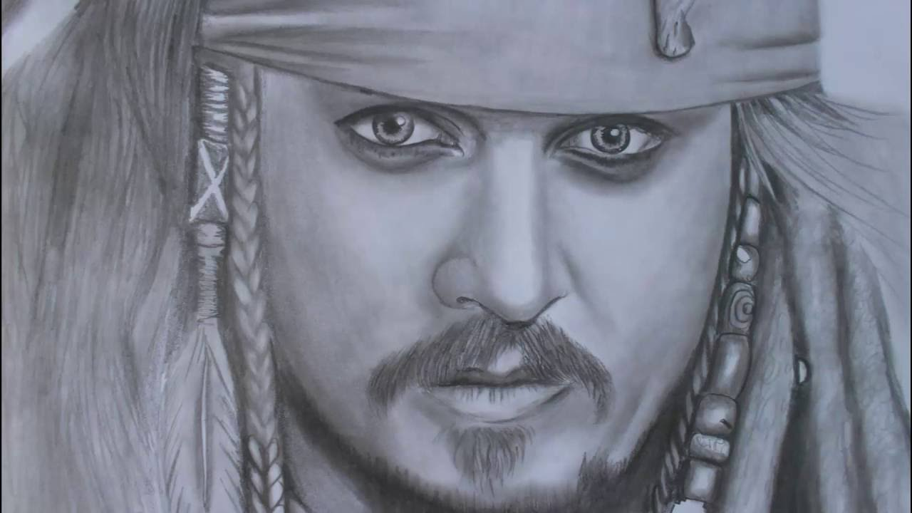 Amazing Drawing Captain Jack Sparrow