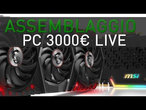 Un mostro di pc gaming da 3.000 euro assemblato in live (8700k, 16gb Dominator, 1080ti Trio)