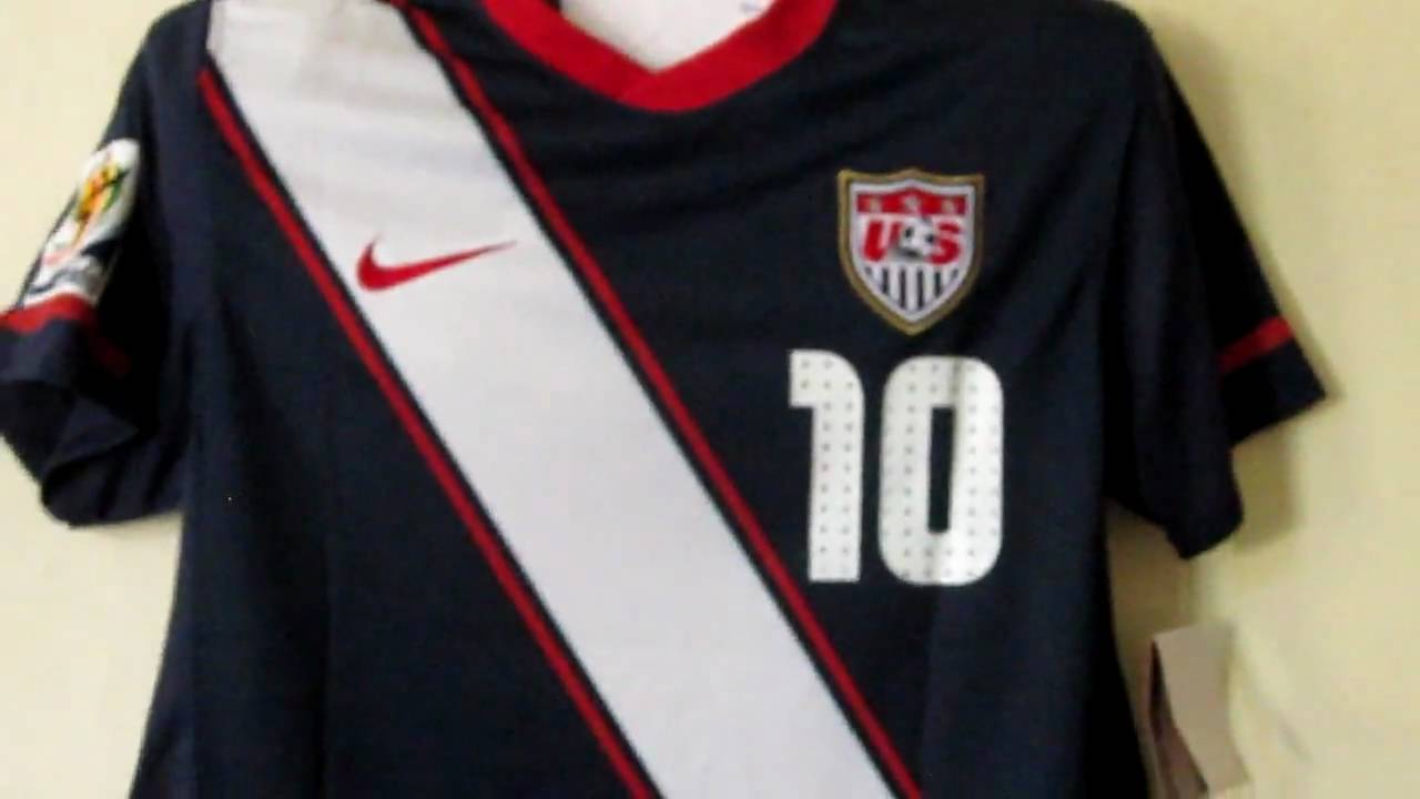 aa9c7419de6 USA navy World Cup 2010 soccer jersey Donovan - YouTube