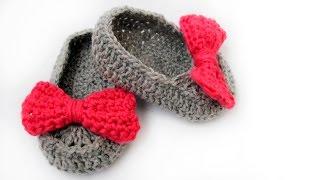 Пинетки крючком / Crochet baby booties / Botines del bebe ganchillo
